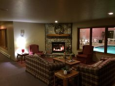 Gathering Area w/ Fireplace for Friends & Family