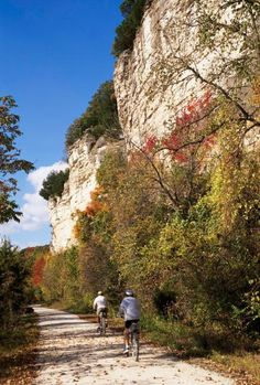 Katy Trail: Ride through some of Missouri's loveliest fall foliage. More info: http://www.midwestliving.com/travel/around-the-region/28-great-midwest-spots-to-see-fall-color/page/9/0#