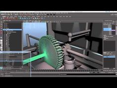Create a Gear System in Maya Driven by Particles - Lesterbanks