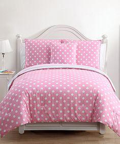 Pink & Gray Kayla Comforter Set