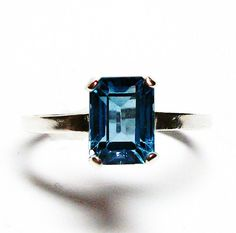 London blue topaz blue topaz blue ring by Michaelangelas on Etsy, $49.99