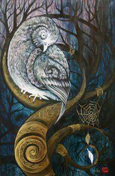 Robin Slow Spirals In Nature, Bird Artists, New Zealand Art, Nz Art, Maori Art, Totems, Blue Art, Animal Paintings, Spirit Animal