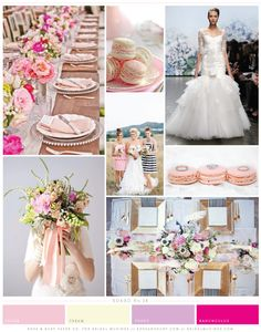 Pretty Pink & Chic Stripes Wedding Inspiration Board by  @roseandruby_com