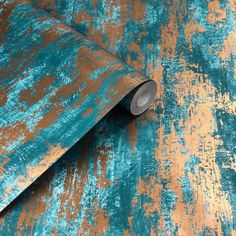 104131 Industrial Texture wallpaper in turquoise blue