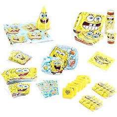 Spongebob Birthday Party Supplies Pack for 16