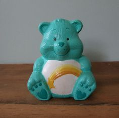 Vintage Care Bear Wish Bear Ceramic Figurine by jessamyjay on Etsy