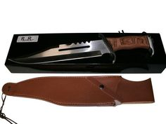 Crocodile Dundee Rambo Who remember the Alamo. This dominates them all. This is the Best Hunting Knife out there Survival Knife. This Bowie Knife set comes with the Leather Sheath. This has a massi. Tactical Survival, Survival Tools, Survival Knife, Fixed Blade Hunting Knives, Best Hunting Knives, Extra Large Dog House, Crocodile Dundee, Rogue River, Wireless Dog Fence