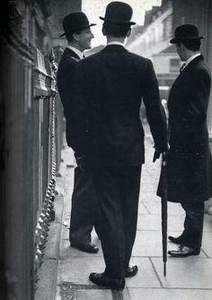 Bowler wearing gentleman