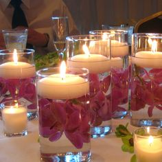 Inexpensive Wedding Flower Centerpieces | Have Cheap Wedding Centerpieces | A Lake Wedding