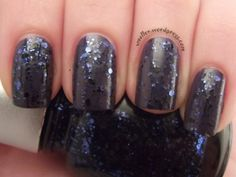 China Glaze Bling it On over Revlon's Impulsive