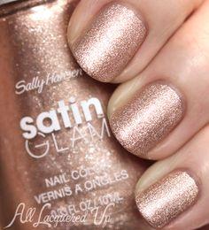 New! Sally Hansen Satin Glam Nail Polish Swatches & Review