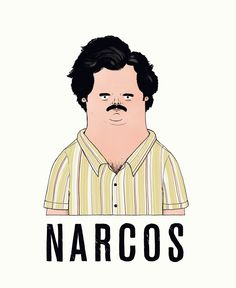 Illustration of the Escobar character in 'Narcos' (Netflix). By Kristof Luyckx.  www.kristofluyckx.be /  www.partlyfiction.tv