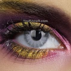 Solar Grey Contact Lenses (Pair)   #eye #color #contacts