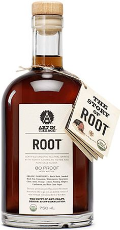 """Ever wonder where root beer came from? Well, it used to be root tea, an alcoholic drink the settlers picked up from the Native Americans — but prohibition ended all of that, so it was drained of its alcohol and rechristened """"root beer."""" Now you can get a taste of the original, organic, and very alcoholic tea with Root ($39). Made from birch bark, black tea, spearmint, sugar cane, and other natural ingredients, every sip is like a step back in time."""
