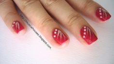 chinese new year nail art red gold 3 by musicalhouses, via Flickr