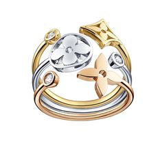 Joining the enduring Monogram collection of Louis Vuitton jewellery are new Monogram Idylle designs featuring the famous star and flower motifs.