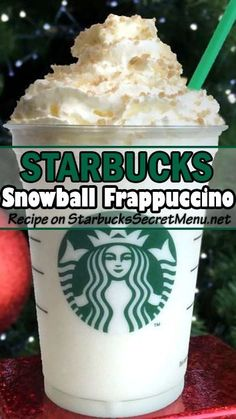 A deliciously icy treat, Starbucks Snowball Frappuccino! #StarbucksSecretMenu