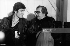 Italian actor Paolo Giusti talking to French director Claude Chabrol on the set of the film Dirty Hands. 1975.