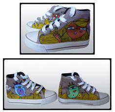 Zapatillas pintadas a mano. Compralas en www.pnitas.es Handpainted sneakers. Buy them at www.pnitas.es