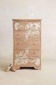 Anthropologie - Pearl Inlay Narrow Dresser