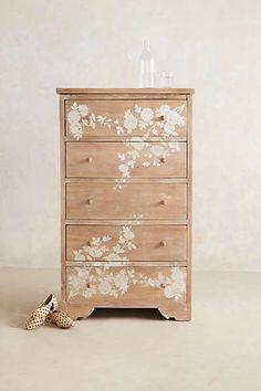 Anthropologie - Pearl Inlay Narrow Dresser