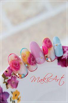 ギャラリー | リーフジェルプレミアム Fabulous Nails, Gorgeous Nails, Pretty Nails, Nail Candy, Sculpted Gel Nails, Manicure, Funky Nail Art, Super Cute Nails, Seasonal Nails