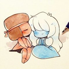 This is too cute for me not to pin, I just love ruby and sapphire so much :D