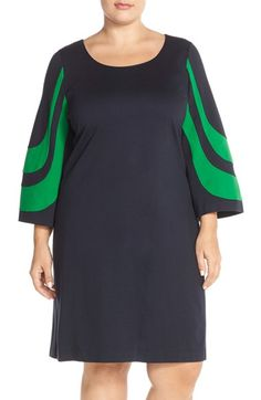 MICHAEL Michael Kors Colorblock Bell Sleeve Dress (Plus Size) available at #Nordstrom