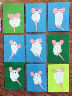Fuzzy Mice made from torn paper. by Art Projects for Kids #atc