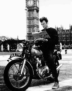 Clint Eastwood on a Norton