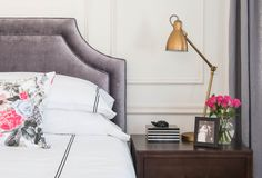 Using Metrie Interior Finishings to Create a Parisian Bedroom - Vanessa Francis Interior Design Bedroom Colors, Bedroom Decor, Bedroom Ideas, Parisian Room, Moldings And Trim, Moulding, Interior Decorating, Interior Design, Beautiful Bedrooms