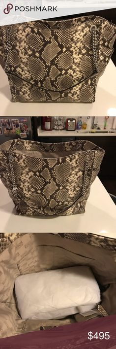 Michael Kors Tote! Brand New, Tags Attached! This gorgeous tote is embossed leather (color is called natural) and absolutely beautiful ! This is a large tote, so it has as much room as a large jet set! Brand New, Tags Attached! Wallet to match but may be bundled together or sold separately! Michael Kors Bags Totes