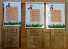 Een aanrader, deze kaarten van kleuteridee.nl ! Niet alleen voor de bouwmat maar ook om te gebruiken op de bouwtafel met kleine blokjes.
