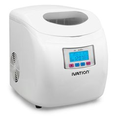 Ivation IVA-ICEM25WH Portable Ice Maker with LCD Display, White >>> Click image to review more details.