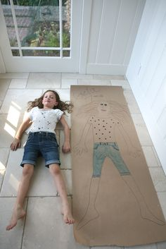 life size self portrait - love this art project for kids by @Deborah Harju for Classic Play