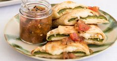 Authentic recipe for Chile Relleno Quesadillas using traditional ingredients.