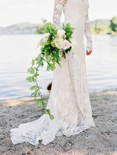 Stunning lace gown! via @Fly Away Bride