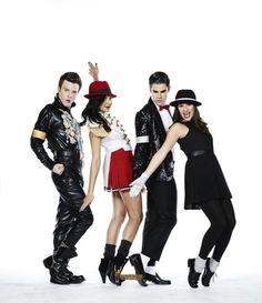 Klaine, Santana, Rachel