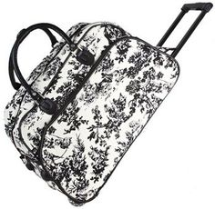 Lightweight Damask Travel Duffel Bag Softsided Blue Black Girls 21Inch Motif Floral Pattern Carry Shoulder Duffle Bag Bohemian Flowers Themed Duffel Fashionable