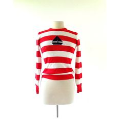 Vintage Nautical Top / Striped Sweater / by SmallEarthVintage