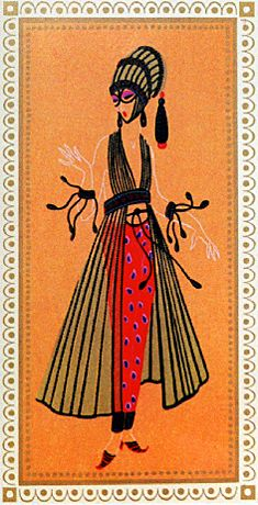The Art of Erte (Romain de Tirtoff) Art And Illustration, Illustrations, Art Nouveau, Moda Art Deco, Erte Art, Romain De Tirtoff, Art Deco Artists, Estilo Art Deco, Harper's Bazaar