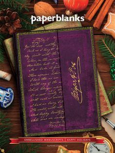 For great minds at work, @Paperbanks Tamerlane Poe journal from our Embellished Manuscripts Collection.    www.paperblanks.com  #happyholidays #holidaygifts