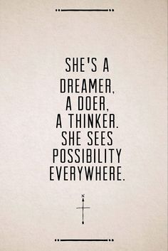 See possibility everywhere
