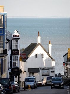 Lyme Regis (Jane Austen visited here and wrote about the resort in Persuasion.) Broad Street to Cobb Gate, 1995