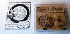 STAMPIN UP Lovely Woodland Cottage ~Rose Estate~use ovals collection framelits #Stampinup