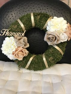 Funeral Flowers, Floral Wreath, Mandala, Planters, Wreaths, Handmade, Decor, Garlands, Crowns