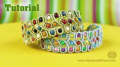 Beaded Bracelet Tutorial by Macrame School #macrame #beadwork #jewelry #tutorial
