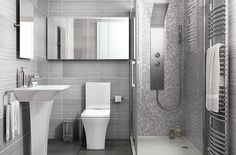 Love the shape of the Sink and Toilet, not keen on the Grey, think i would go a slightly warmer shade