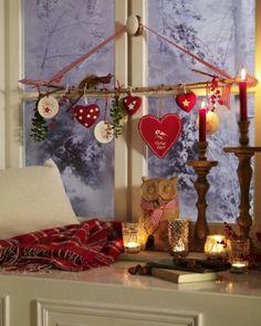 Besinnliche Weihnachtsdekoration zum Fest
