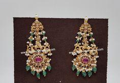 Ruby Necklace Designs, Jewelry Design Earrings, Ear Jewelry, India Jewelry, Jewelery, Wedding Jewellery Designs, Gold Jewellery Design, Gold Jewelry Simple, Silver Jewelry